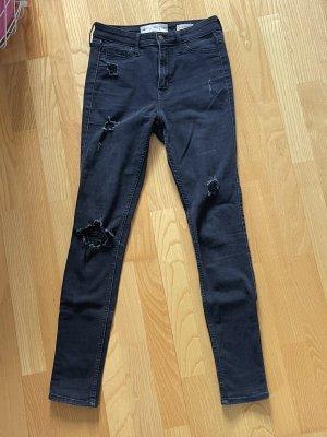 Skinny Jeans von Hollister Größe 1R schwarz