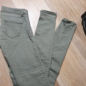 Tally Weijl Jeans vita bassa grigio-verde