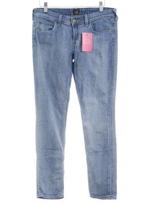 Skinny Jeans weiß-blassblau Casual-Look