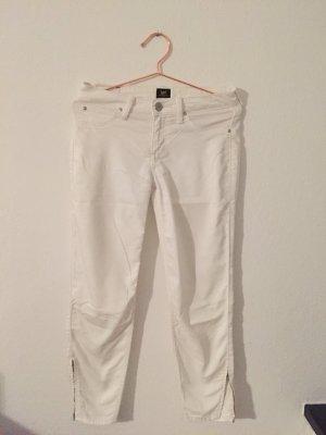 Skinny jeans white, 7/8 , Mit Reißverschluss, Lee