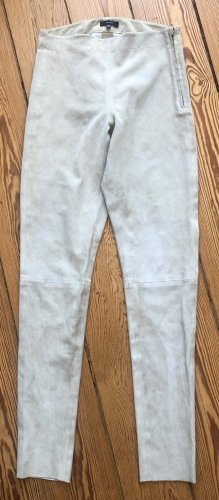 Skinny Lederhose in  Velourslederstretch ( Echtleder )