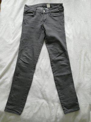Skinny low waist Jeans grau