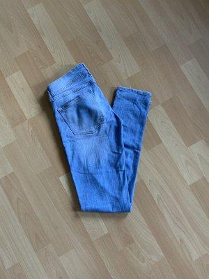 H&M Pantalone cinque tasche azzurro-azzurro Cotone