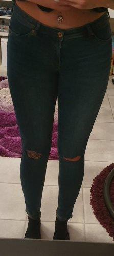 Skinny Low Waist Ripped Jeggings