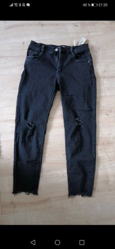 Pull & Bear Stretch Jeans black-dark grey
