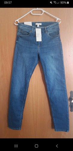 H&M Pantalon strech bleu acier-bleuet