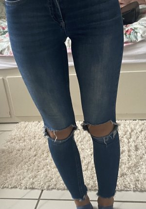 Skinny ripped jeans von Only in blau