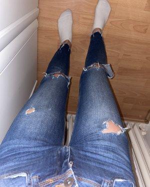 Skinny ripped jeans von Zara basic Z1975 Denim