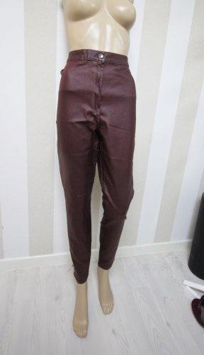Pantalone a sigaretta marrone-rosso