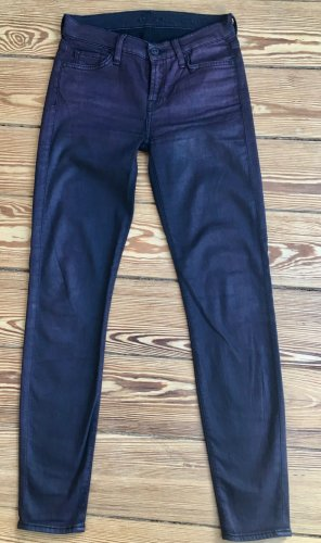 7 For All Mankind Jeans skinny brun tissu mixte