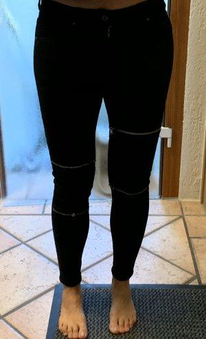 Skinny Stretch Jeans mit Reißverschlüssen neu