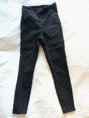 ASOS DESIGN High Waist Trousers black cotton