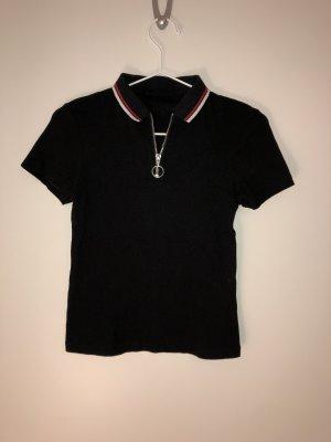 skinny T-Shirt geribbt