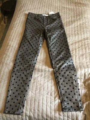 Zara Basic Hoge taille broek zwart