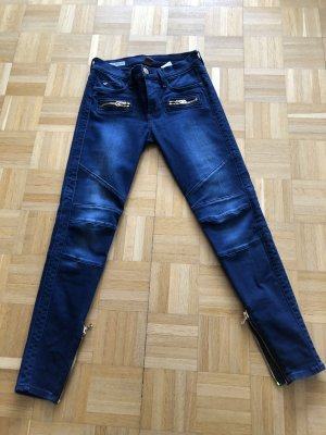True Religion Jeans skinny bleu foncé coton