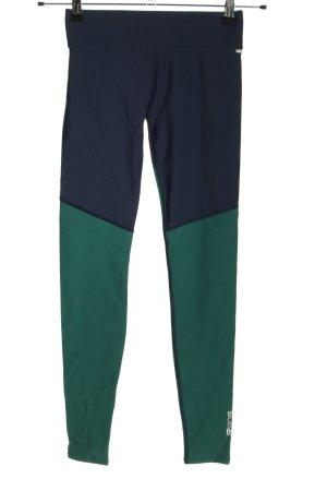 skins Legginsy niebieski-zielony W stylu casual