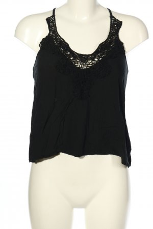 Skiny Camisa de mujer negro Patrón de tejido look casual