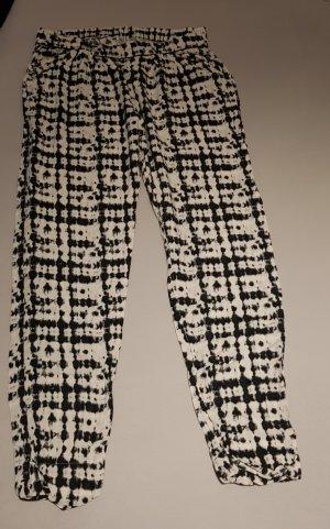 Skiny Pantalón tipo suéter blanco-negro