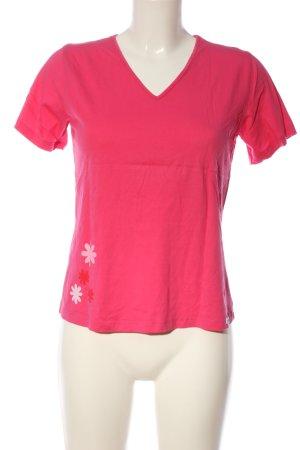 Skiny Camisa con cuello V rosa estampado floral look casual