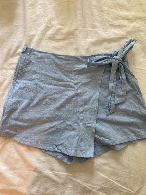 Falda pantalón azul celeste