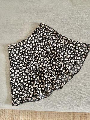 New Look Pantaloncino a vita alta nero-bianco