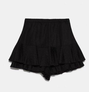 Skort schwarz zara rock shorts kurz sommer elegant party