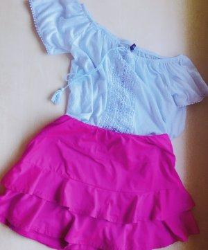 Falda pantalón magenta-rojo frambuesa