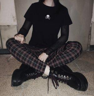 Camicia cropped bianco-nero