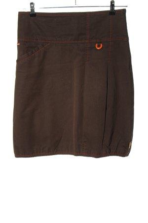 Skunkfunk Balonowa spódniczka brązowy Wzór w paski W stylu casual