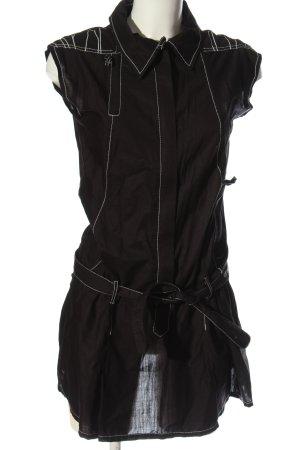 Skunkfunk Robe chemisier noir style décontracté