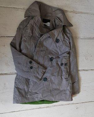 Skunkfunk Winter Jacket light grey-grass green