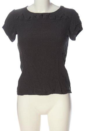 Skunkfunk Blouse à manches courtes gris clair style décontracté