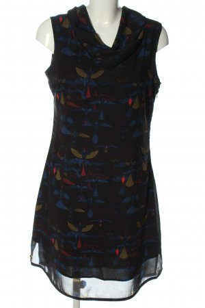 Skunkfunk Abito a maniche corte nero-blu Stampa a tema elegante