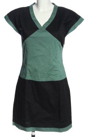 Skunkfunk Robe à manches courtes noir-vert style décontracté