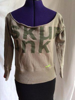 Skunkfunk Sweatshirt kaki coton