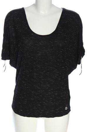 Skunkfunk Top extra-large noir-blanc moucheté style décontracté