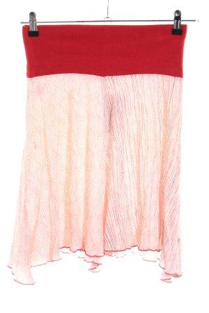 Skunkfunk Stretchrock rot-wollweiß abstraktes Muster Casual-Look