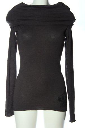 Skunkfunk Maglione lavorato a maglia grigio chiaro Stampa a tema stile casual