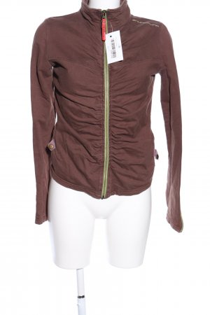 Skunkfunk Sweatjacke braun Casual-Look