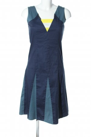 Skunkfunk Trägerkleid blau-blassgelb Casual-Look