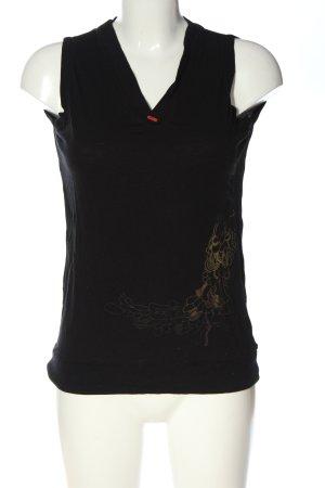 Skunkfunk Débardeur à bretelles noir-orange clair motif abstrait