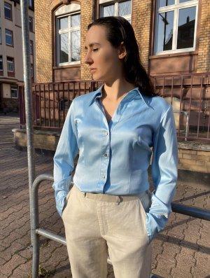 Sky blue silk shirt