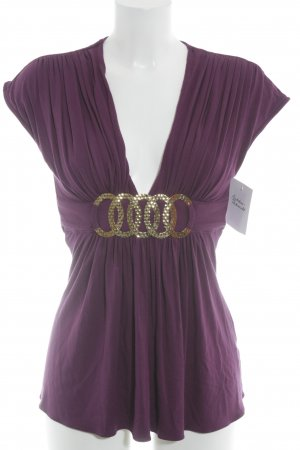 SKY Empire Waist Shirt purple-gold-colored elegant