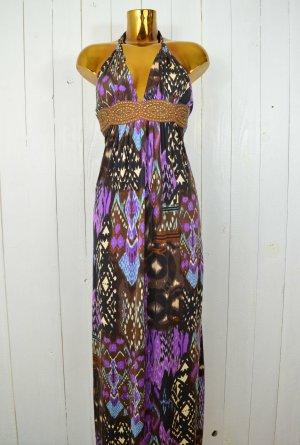 Vestido de cuello Halter multicolor