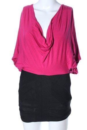 SKY Minikleid pink-schwarz Elegant