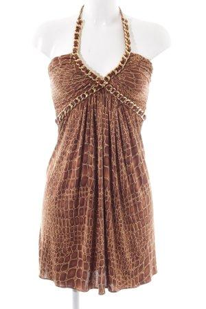 SKY Minikleid bronzefarben-braun Animalmuster Elegant