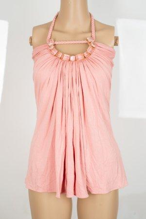 SKY Top senza maniche rosa Tessuto misto