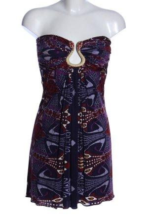 SKY schulterfreies Kleid abstraktes Muster Casual-Look