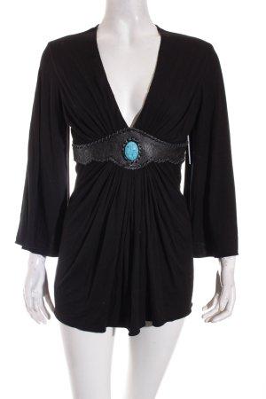 SKY V-Ausschnitt-Shirt schwarz Casual-Look