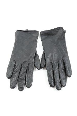 SL Guantes de cuero negro look casual